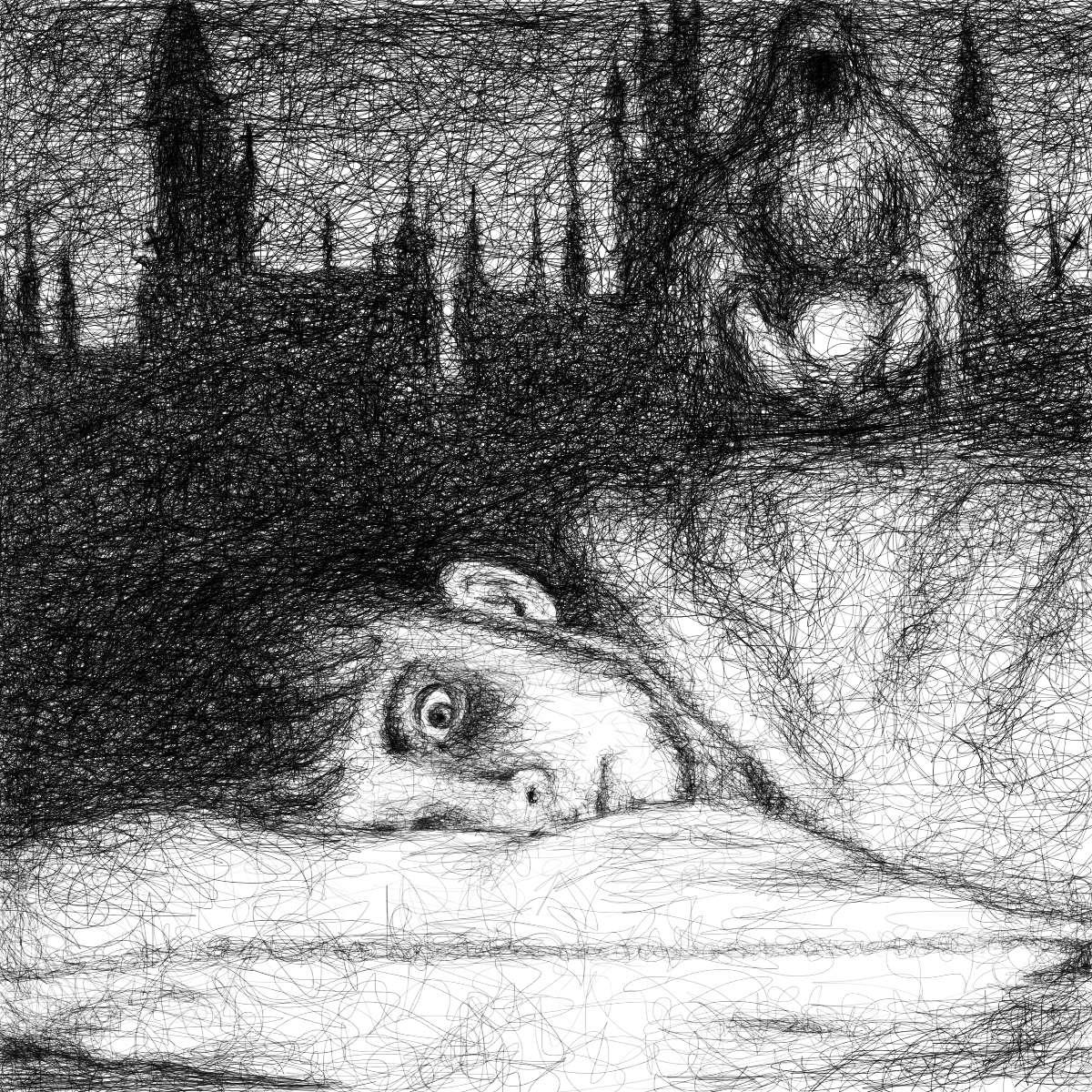 Michael Stauner - Inkarnation: Falbyr awakens from nightmare (illustration of book scene)